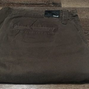 Hurley brown shorts for men sz 38